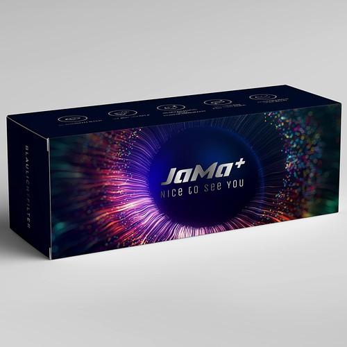 Packaging for blue light filter glasses