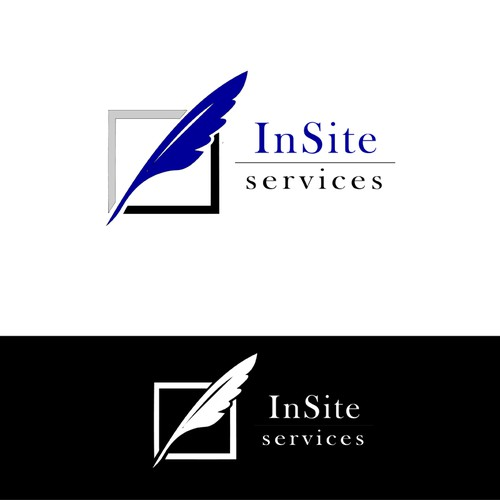 company name is InSite Services. . needs a new logo and business card