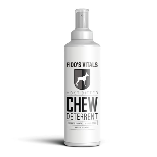 FIDO'S VITALS - CHEW DETERRENT BOTTLE LABEL