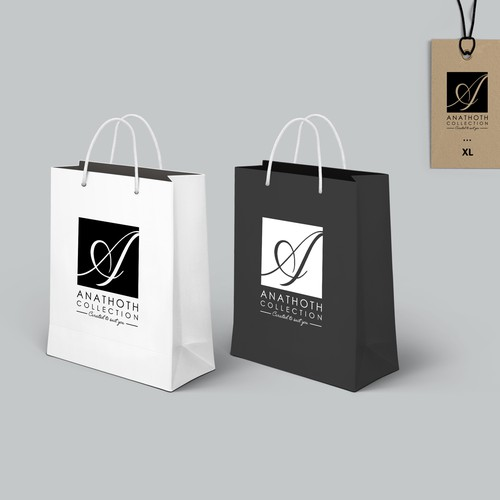 Classic and minimal logo design with a modern edge for Anathoth Collection eboutique