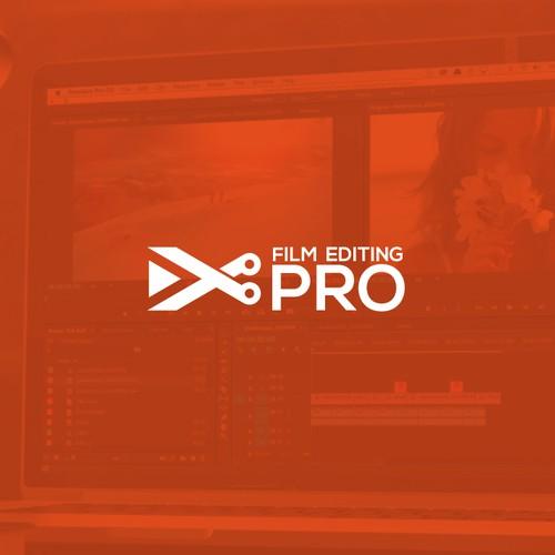 Film Editing pro logo design