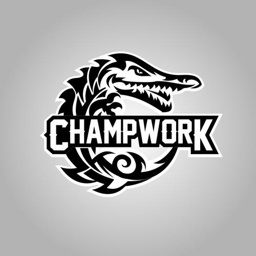 Create the ultimate tribal alligator inspired logo for Champ Work