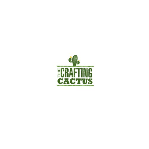 The Crafting Cactus DIY Craft Bar Logo Concept