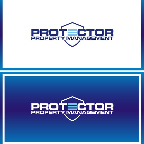 Create a logo brand for Protector, a property mgmt. company for commercial real estate