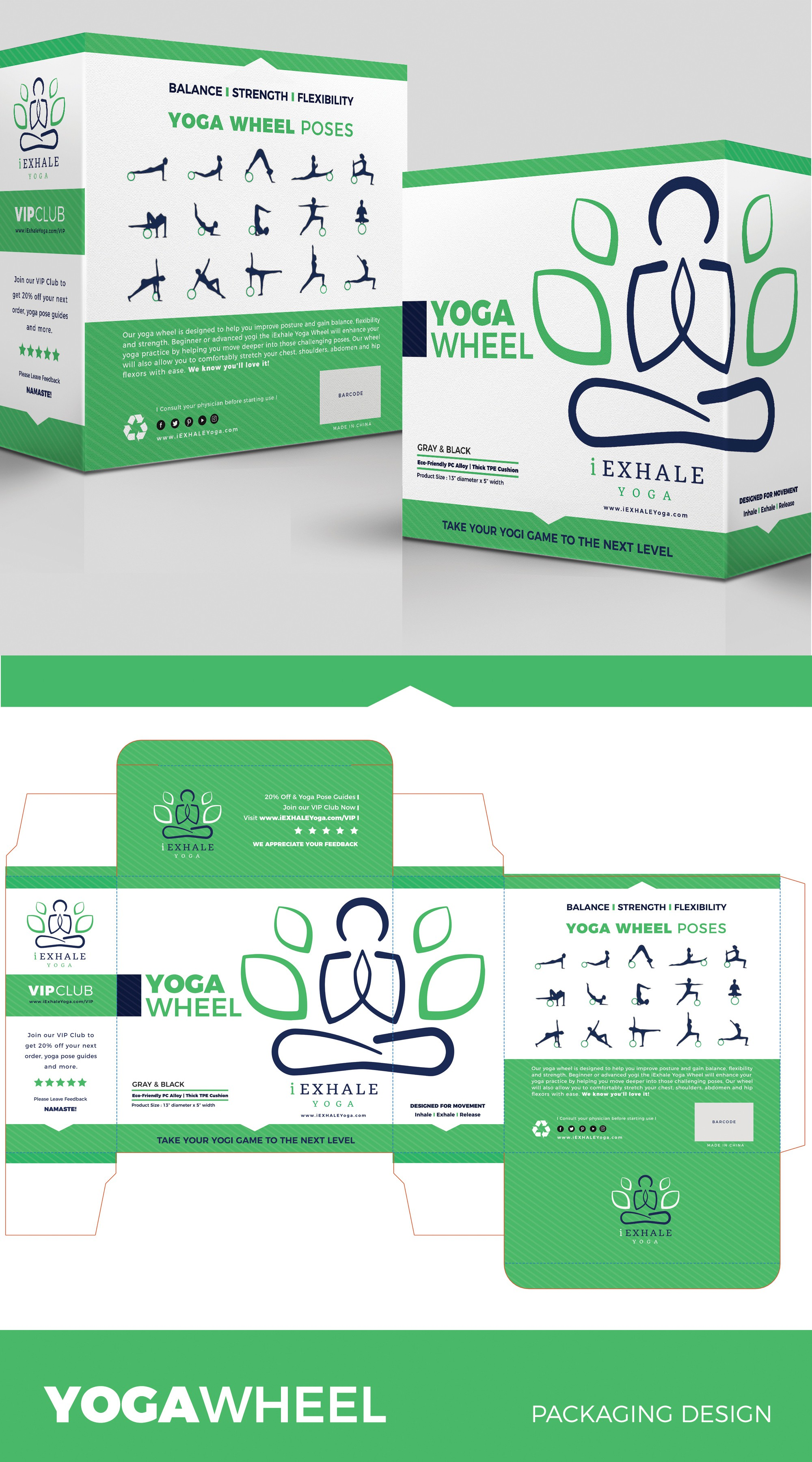 Guaranteed Winner! Eye-catching and simple packaging for yoga product
