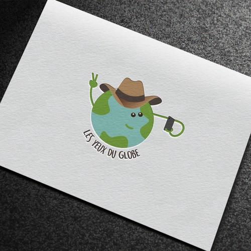 logo concept for travelling vlog