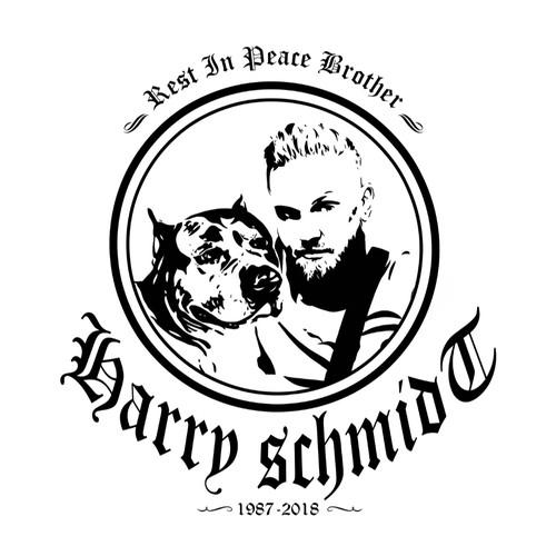 Design for T-Shirt als Andacht an verstorbenen Freund