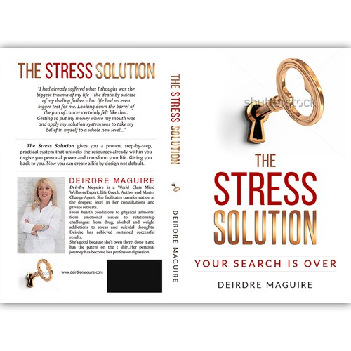 Book cover for a book about overcoming the stress in life.