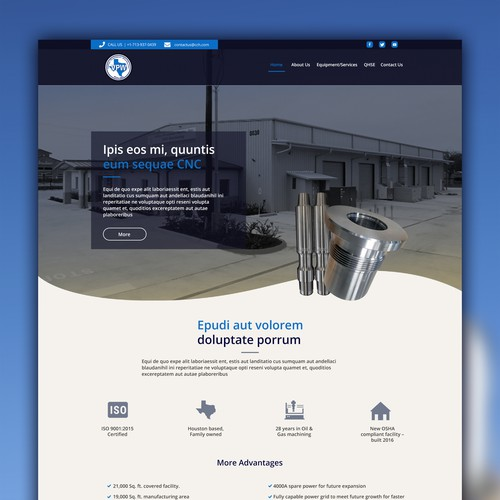 Responsive Website Design For CNC Warehouse Company