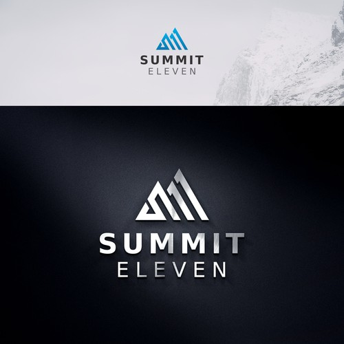 Summit Eleven, modern logo for a modern transportation company.