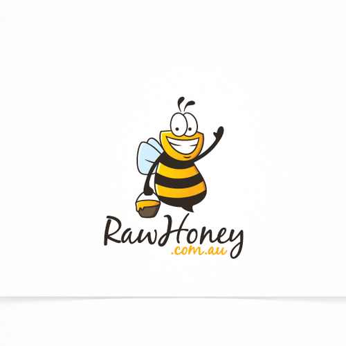 Logo Concept For RawHoney.com.au