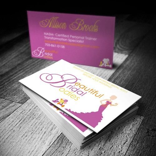 Create the next logo and business card for Beautiful Bridal Bodies