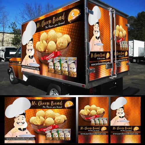 Mr. Cheese Bread Van Wrap