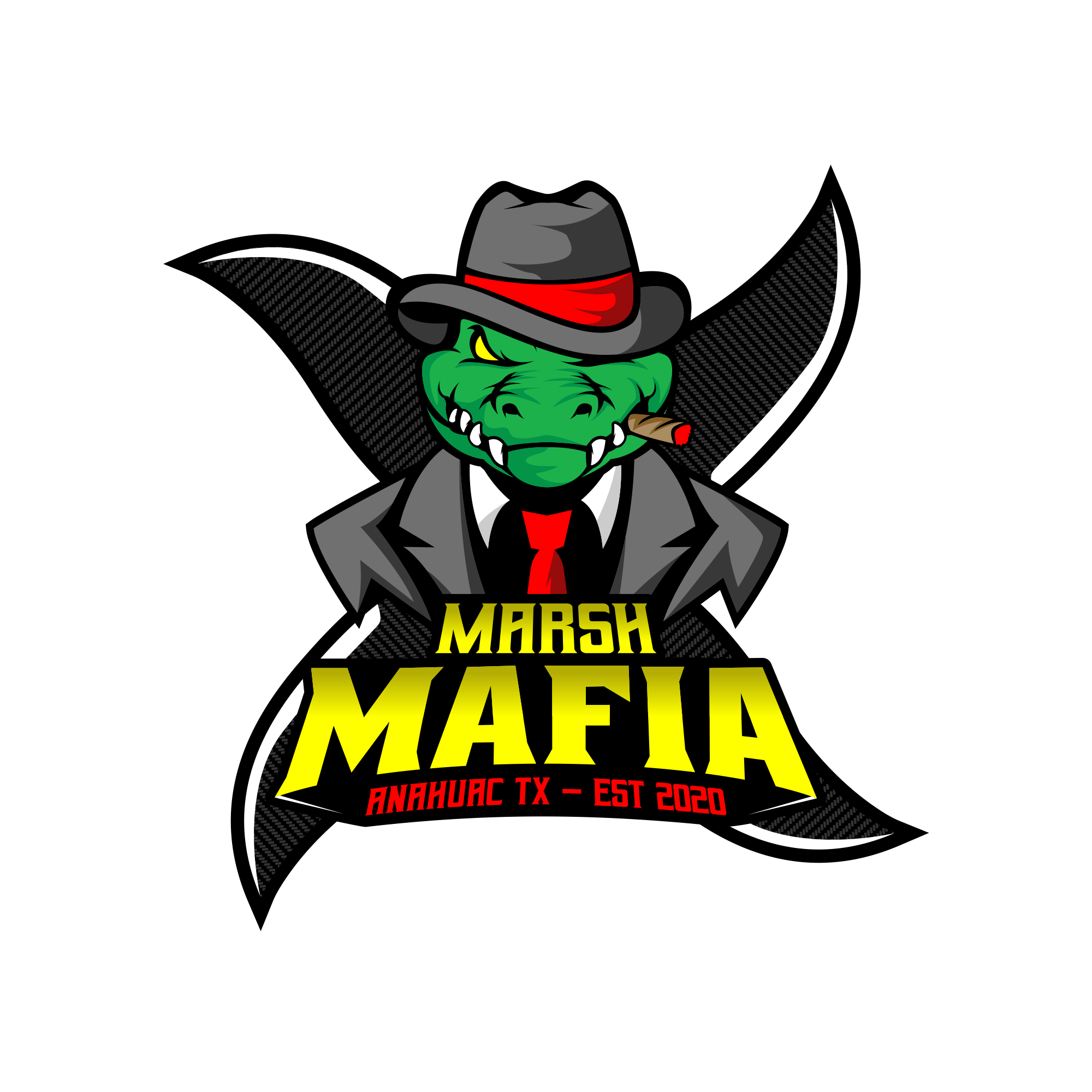 Airboat Logo for our Airboat Club - Mafia type design with Gator Head