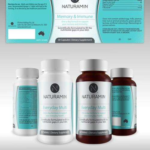 Design Two Vitamin Supplement Labels