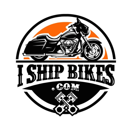 Bold Logo concept for I Ship Bikes .com