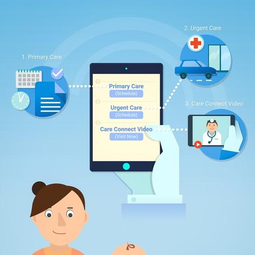 Simple health care illustration
