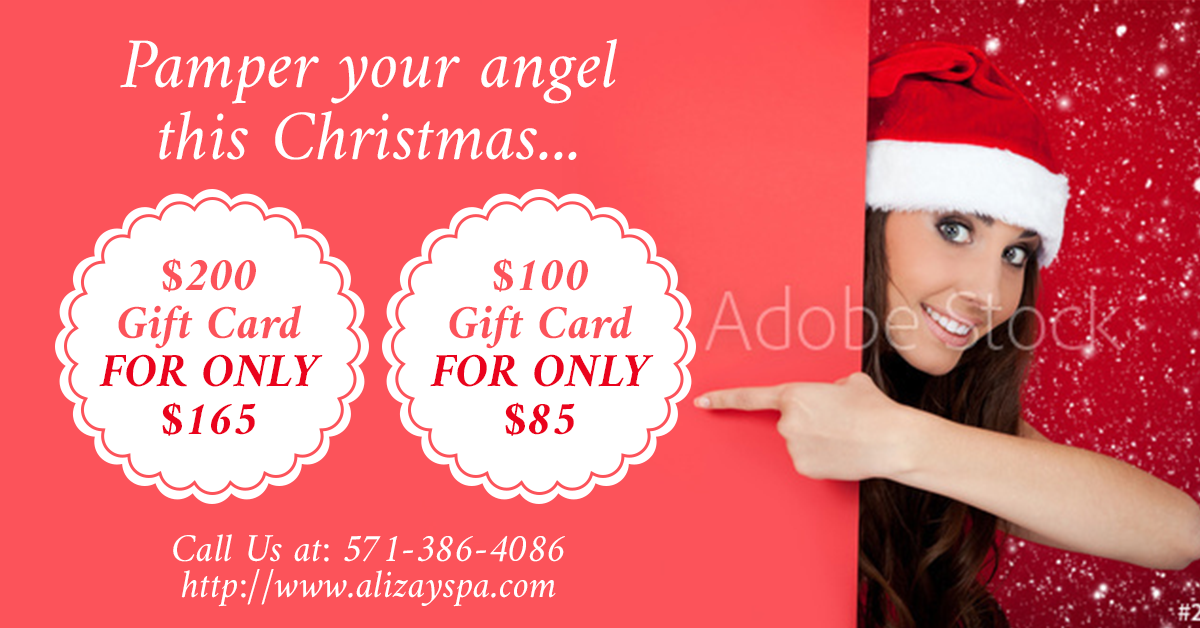 Facebook Ad for Alizay Spa Gift Card