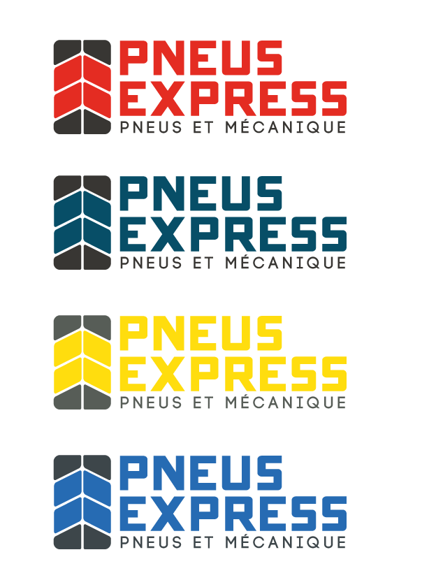 Express (Express Tires), Pneus Action (Action Tires), Pneus Total (Total Tires), Pneus Extra (Tires Extra) needs a new logo