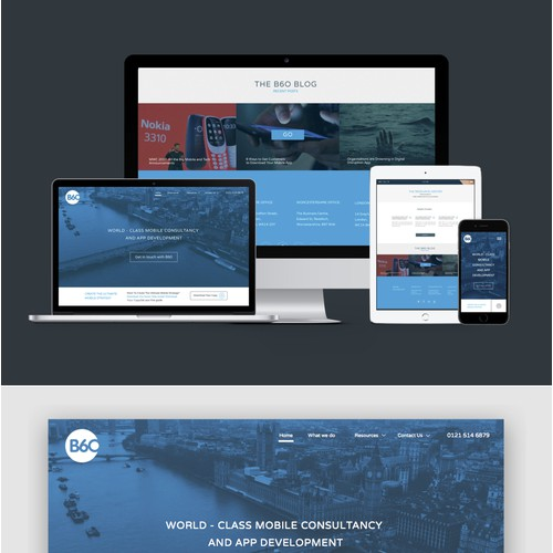Home Page Design | Mobile Agency B60 Proposal
