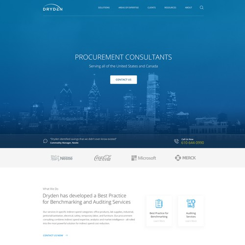 Revamp old consulting firm website design
