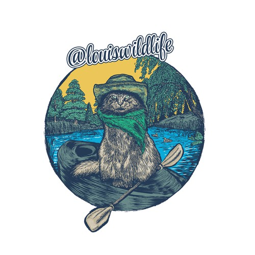 Vintage hand-drawn environmental illustration for print and t-shirt.