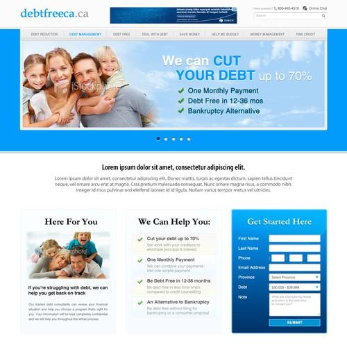 Design a site for Debtfreeca.ca [3 pages]