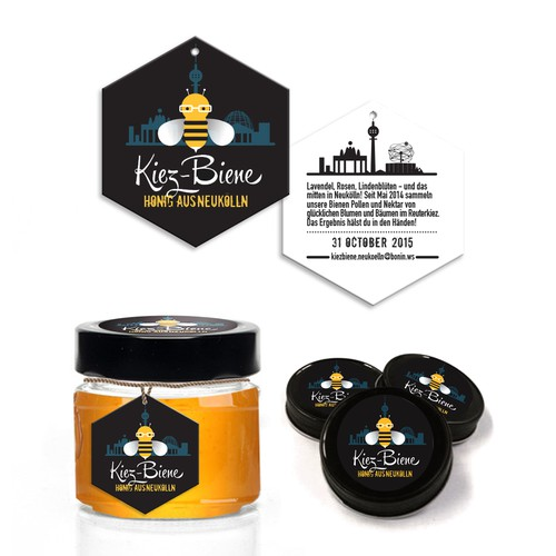 """Cool, simple Design for our """"PURE Honey"""" (from Berlin)!"""