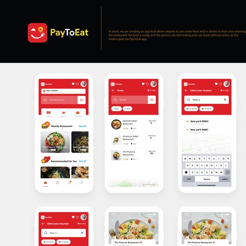Pay to eat mobile app
