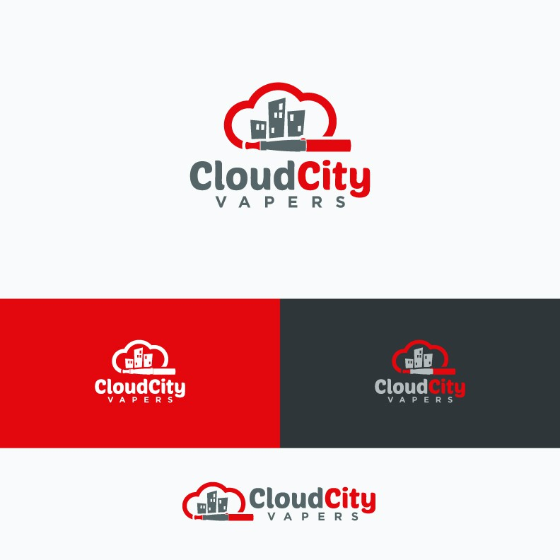 Create a company logo for Cloud City Vapers