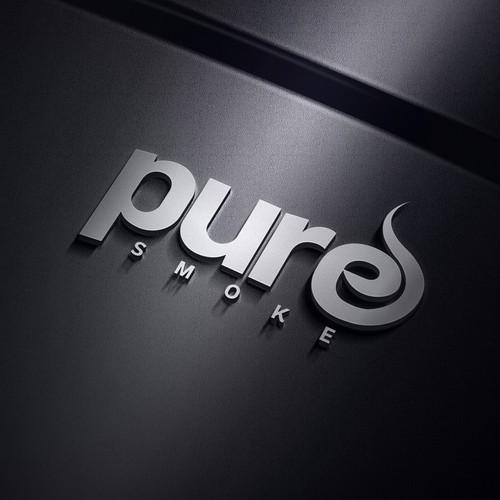 Pure smoke logo
