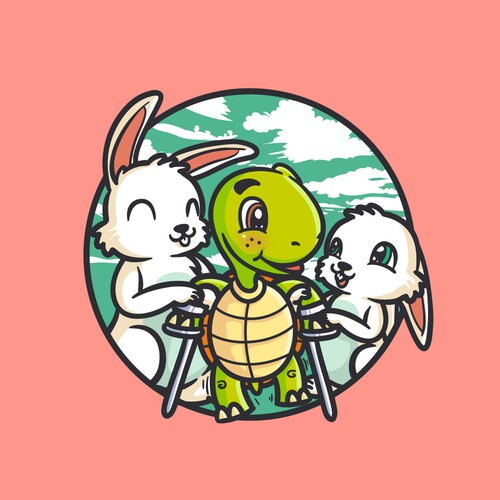 """Tortoise and hare """"ataxian"""" mascot"""