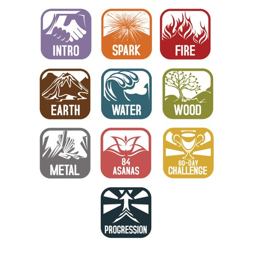 Sunstone Yoga icons design