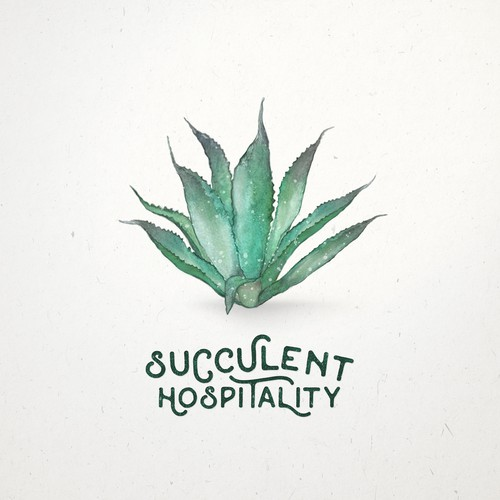 Watercolor logo design for restaurant