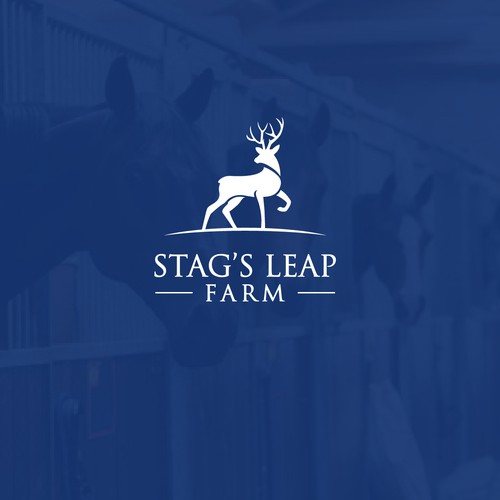 Logo concept for a horse farm.