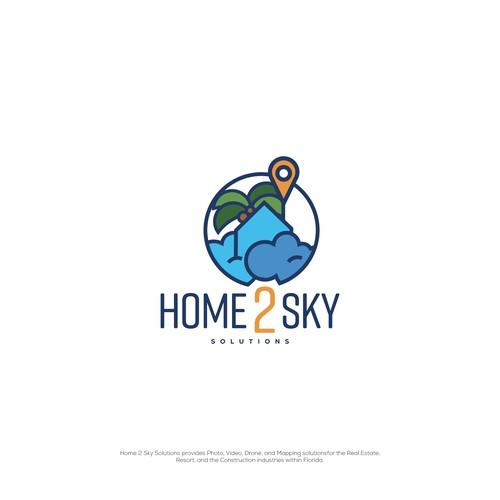 Home 2 Sky Logo concept