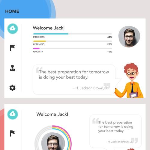 Design concept for learning app