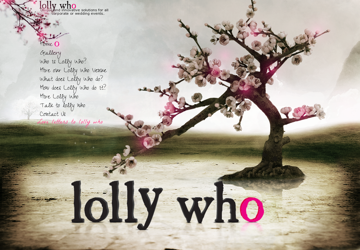 Create the next website design for Lollywho