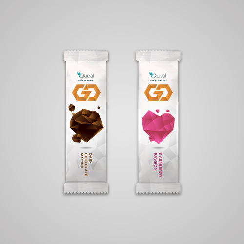 Packaging concept for a on-the-go snack.