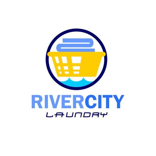 icon style logo for laundromat