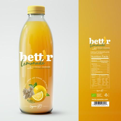 Bett`r Lemonades Product Label