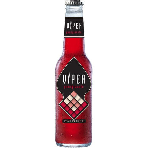 Design the label for Viper: a fruit-flavored alcoholic beverage