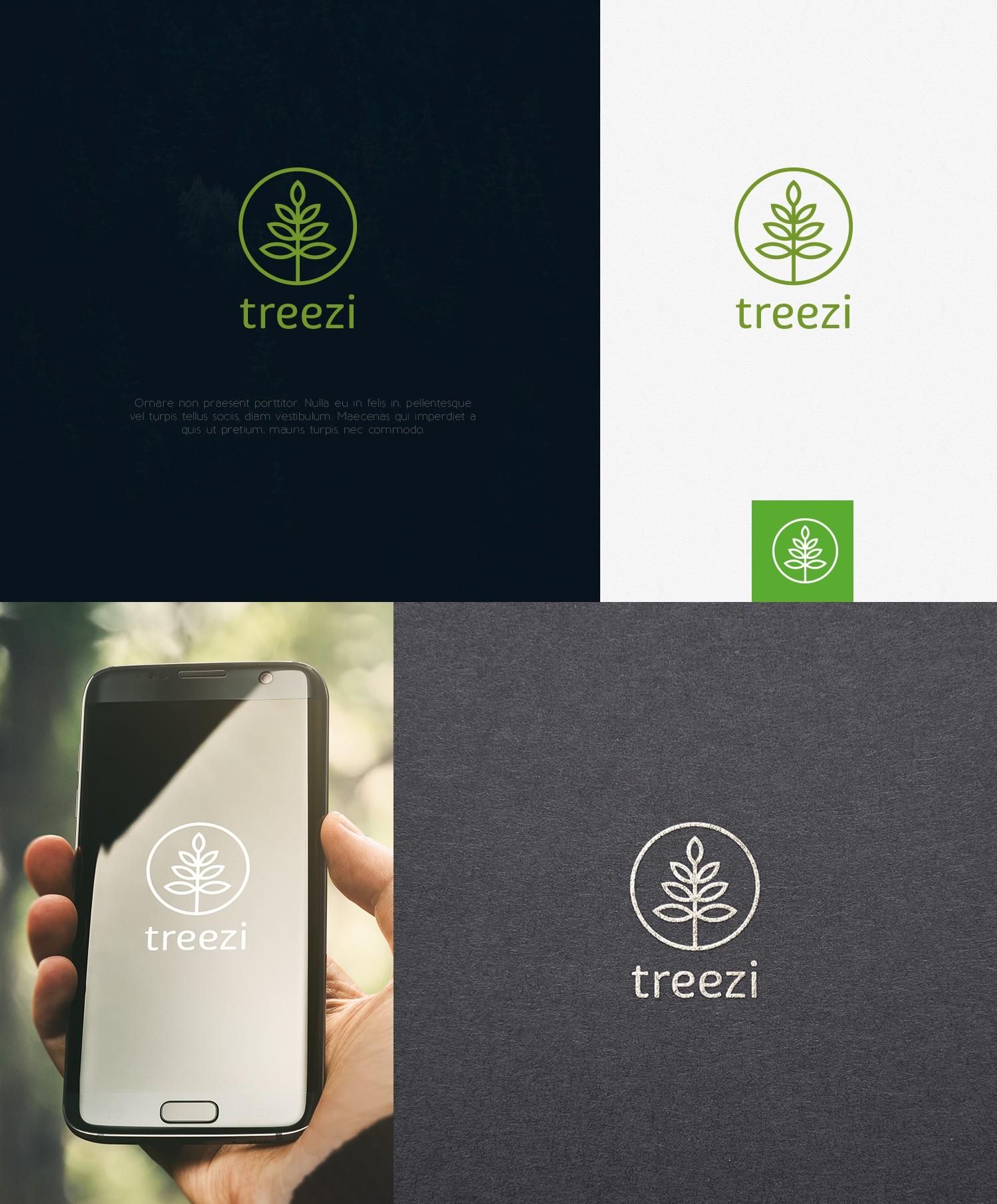 Design a logo for treezi, an app for tree care companies