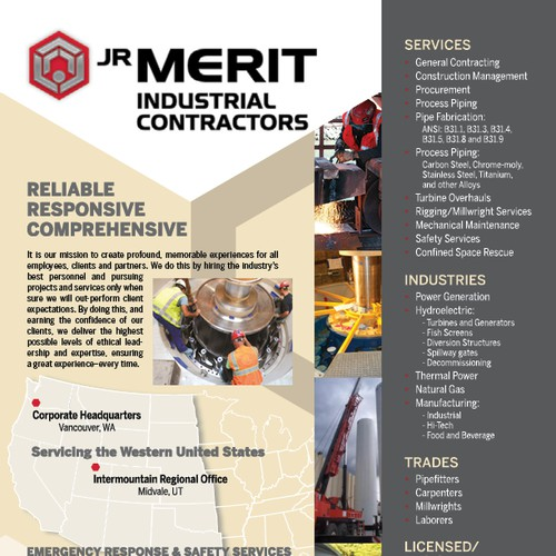 Creative Industrial Contractors Line Card/Brochure