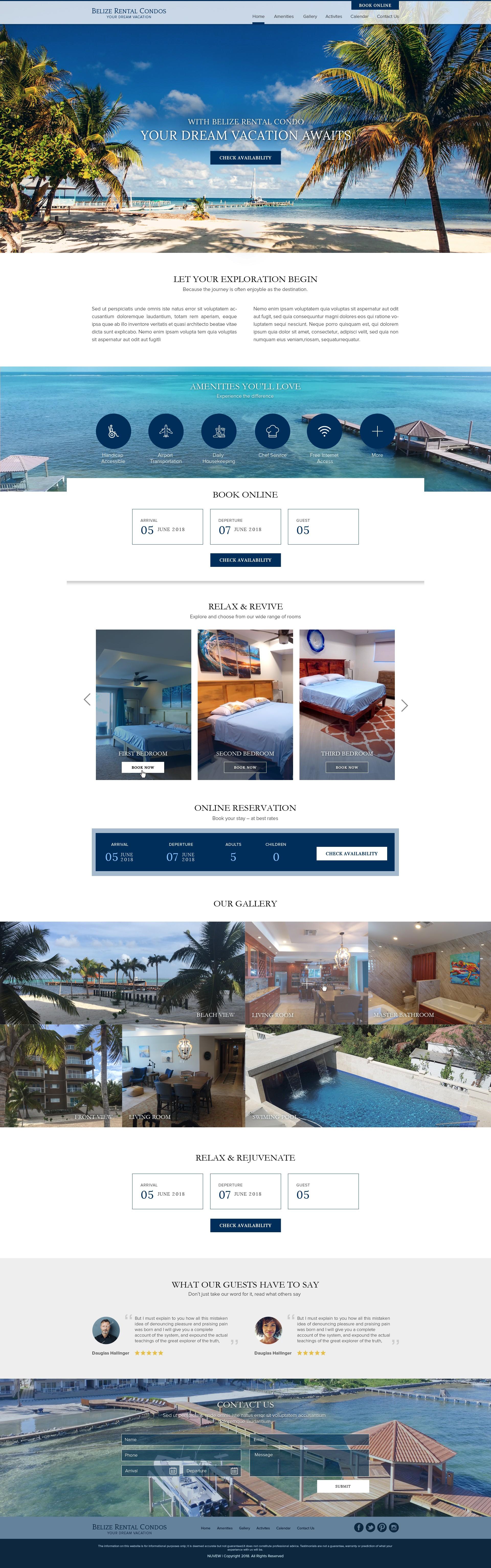 Landing Page - Belize Condo