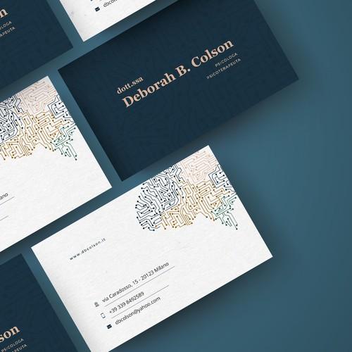 Modern Minimal Business Card Design