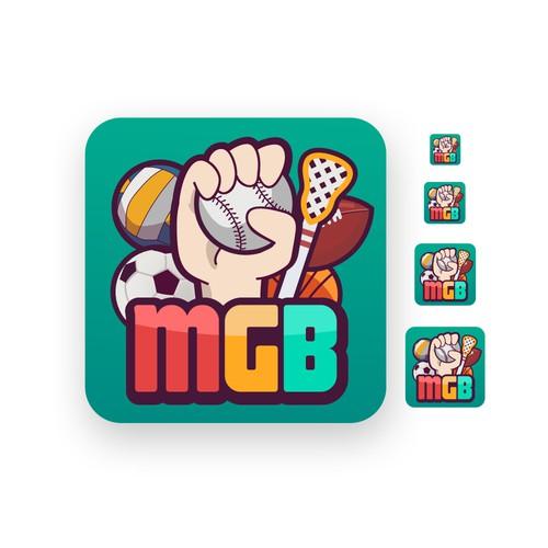 MyGameBall logo for app