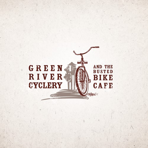 logo design for bike cafe