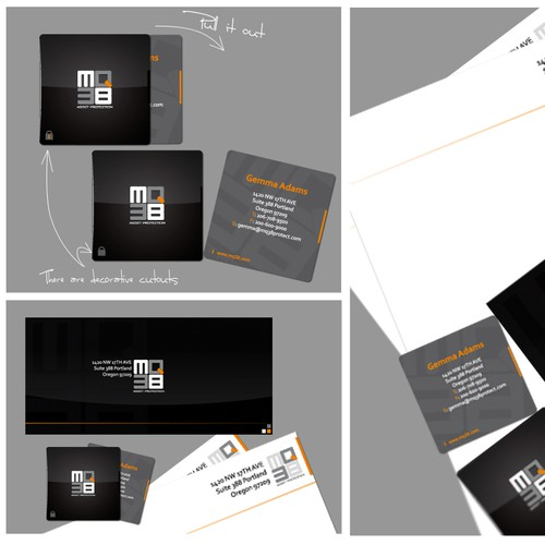 MQ38 Square Business Card & Letterhead for Financial Firm