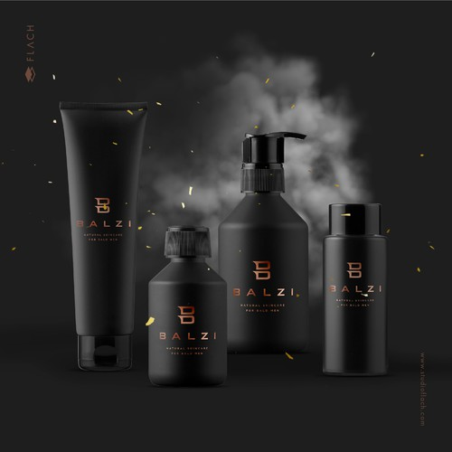 Masculine and sophisticated logo for a men eco-friendly, natural skincare products line.